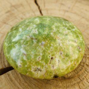 Groene Opaal lens geslepen