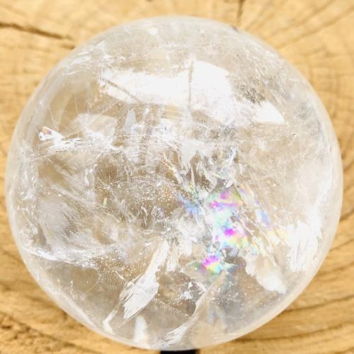 Bergkristal bol 77 mm gepolijst
