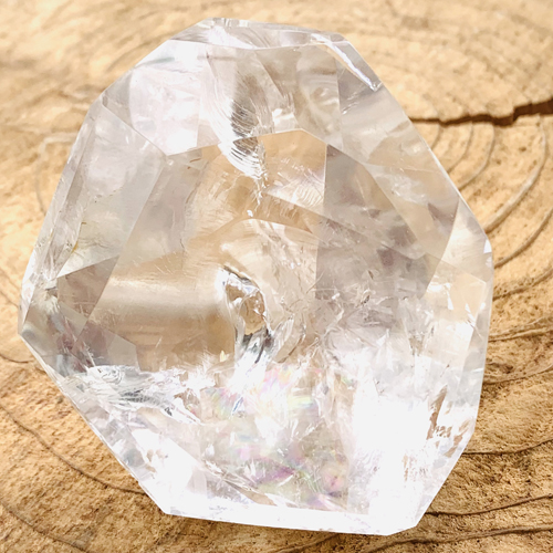 Bergkristal facet geslepen